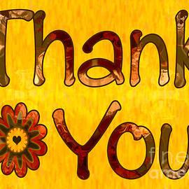 Omaste Witkowski - Golden Thanks Abstract Greeting Card Artwork by Omaste Witkowski