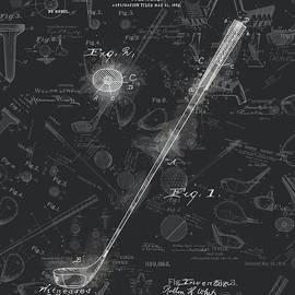 golf club patent drawing black 5 - Bekim Art