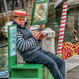 Gondolier Venice Italy_DSC4846_03032017 by Greg Kluempers