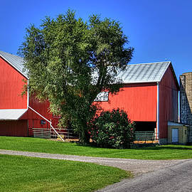 William Sturgell - Gorgeous Red Barn next to the Road