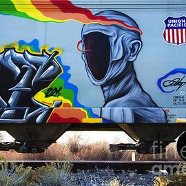 Graffiti Art Riding The Rails 2 by Bob Christopher