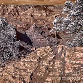 Grand Canyon Battleship Rock Infrared #2 by Norman Gabitzsch