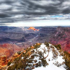 Bruce Beck - Grand Canyon dramtic sky, Winter
