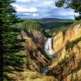 Grand Canyon Of The Yellowstone Waterfall by Christopher Arndt