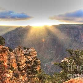 Charlene Cox - Grand Canyon Sunrise Sun Rays