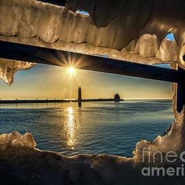 Nick Zelinsky - Grand Haven Framed in Ice