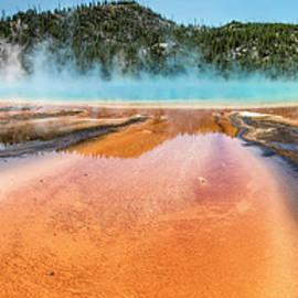 Grand Prismatic Spring Yellowstone  by John McGraw