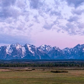 Grand Tetons Before Sunrise Panorama - Grand Teton National Park Wyoming by Brian Harig