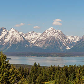 Grand Tetons Over Jackson Lake Panorama by Brian Harig