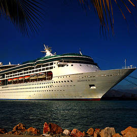 Grandeur Of The Seas At Labadee Haiti by Bill Swartwout Fine Art Photography