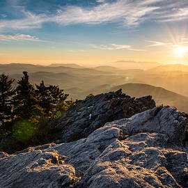 Dave Allen - Grandfather Mountain Sunset Blue Ridge Parkway Western NC