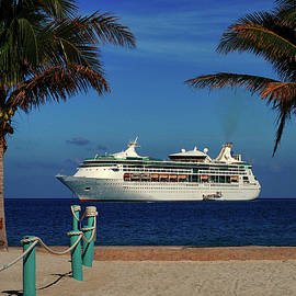 Granduer of the Seas Anchored At Coco Cay by Bill Swartwout Photography