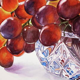 Lillian  Bell - Grapes in crystal