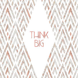 Melanie Viola - Graphic Art THINK BIG - rose gold and marble