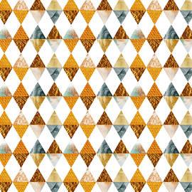 GRAPHIC PATTERN Funky triangles - golden - Melanie Viola