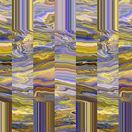Grate Art - Abstract Photography - Manipulated Photograph - Purples and Yellow Golds by Brooks Garten Hauschild