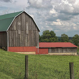 William Sturgell - Gray Barn with Green Roof