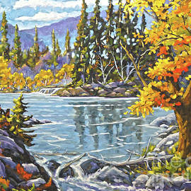 Richard T Pranke - Great Canadian Lake  - Large Original Oil Painting