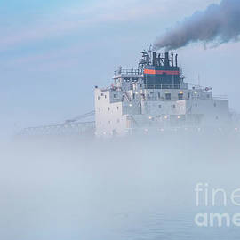 Great Lakes Freighter James R Barker -7923 by Norris Seward