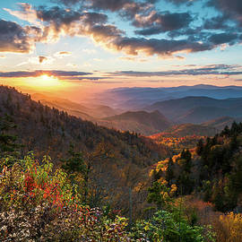 Dave Allen - Great Smoky Mountains National Park NC Scenic Autumn Sunset Landscape