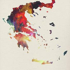 Design Turnpike - Greece Watercolor Map