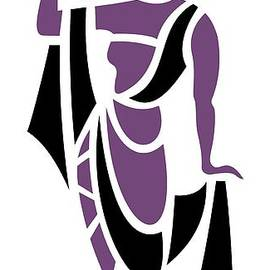 Greek Woman In Purple by Donna Mibus
