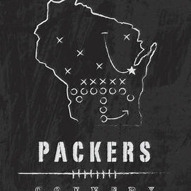 Green Bay Packers Art - Nfl Football Wall Print by Damon Gray