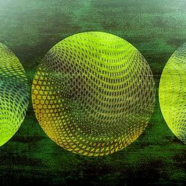 Green Mystical Spheres by Grace Iradian