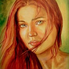 Em Scott - Green Eyes , Red hair , Study