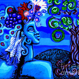 Genevieve Esson - Green Goddess With Tree