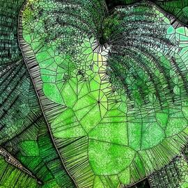 Green Hosta Abstract Three by Mo Barton