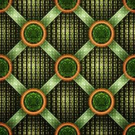 Green - Pattern - Fractal by Anastasiya Malakhova