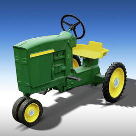 Green Peddle Tractor by Mike McGlothlen