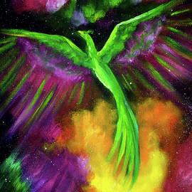 Green Phoenix in Bright Cosmos - Laura Iverson