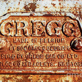 Gregg Nameplate On Railway Coach Chassis by James Brunker