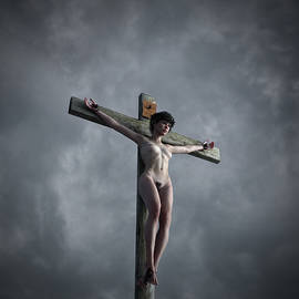 Ramon Martinez - Grey sky crucifix