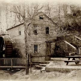 Grist Mill And Threshing Barn in Sepia by Toni Abdnour