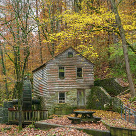 Grist Mill in the Fall by Sharon Popek