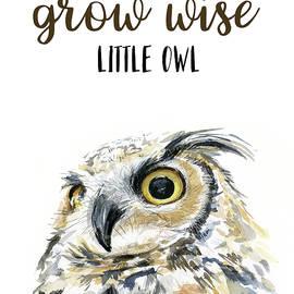 Grow Wise Little Owl - Olga Shvartsur