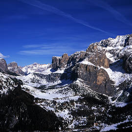 Gruppo Sella Sella Gruppe near The Passo Sella Sellajoch Selva Val Gardena Dolomites Italy by Michael Walters