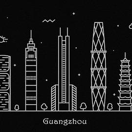 Inspirowl Design - Guangzhou Skyline Travel Poster