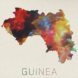 Guinea Watercolor Map - Design Turnpike