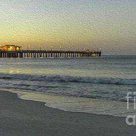 Gulf Shores Alabama Fishing Pier Digital Painting A82518 by Mas Art Studio