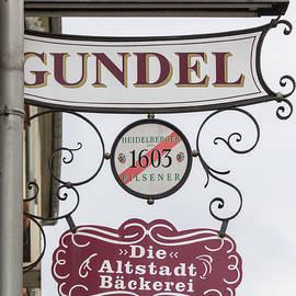 Gundel Sign Heidelberg