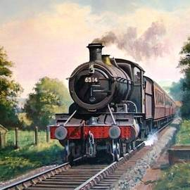 GWR 2-6-0 on a local passenger train. - Mike Jeffries