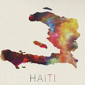 Haiti Watercolor Map - Design Turnpike