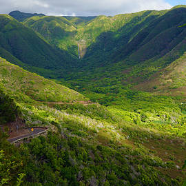 Halawa Valley And Waterfall by Kevin Smith