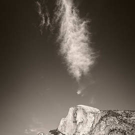 Half Dome And Cloud by Bryan Mullennix