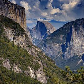 Half Dome And El Capitan by Rick Berk