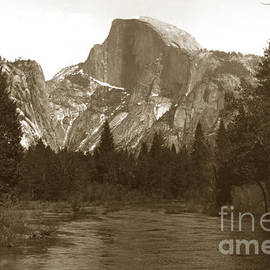 Half Dome and Merced River Yosemite Valley Circa 1900 by California Views Archives Mr Pat Hathaway Archives